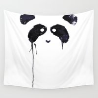 panda Wall Tapestries featuring Panda by Tobe Fonseca