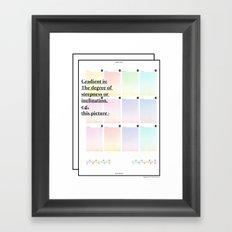 Gradient (English) Framed Art Print