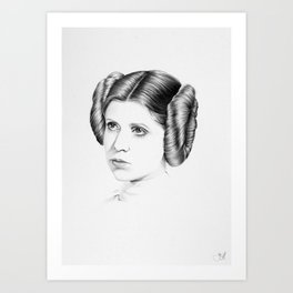 Princess Leia Minimal Drawing Art Print