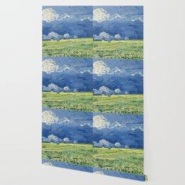 Vincent van Gogh - Wheatfield Under Thunderclouds Wallpaper