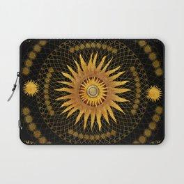 """Black & Gold Vault Mandala"" Laptop Sleeve"