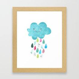 Happy cloud Framed Art Print