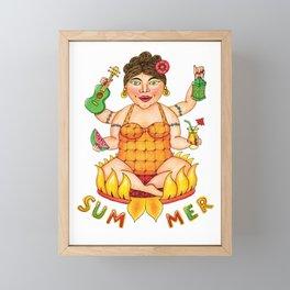 Summer Goddess Framed Mini Art Print