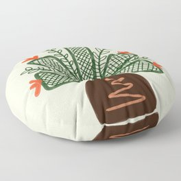 Mosquito pot plant drawing Floor Pillow