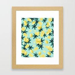 Lemon Twist Vibes #1 #tropical #fruit #decor #art #society6 Framed Art Print