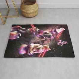 Galaxy Laser Yo-Yo Cat - Space Yo-Yo Cats with Lazer Eyes Rug