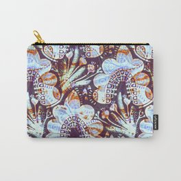Arabesque Plant Jungle in Lavender, Orange and Purple Ethnic Pattern Illustration Carry-All Pouch
