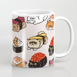 Sushi Persian Cat Coffee Mug