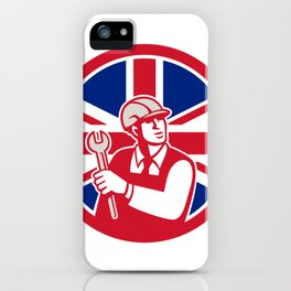 British Engineer Union Jack Flag Icon iPhone Case