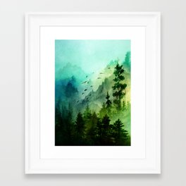 Mountain Morning Framed Art Print