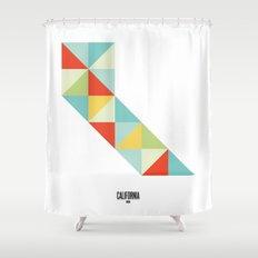 Geometric California Shower Curtain