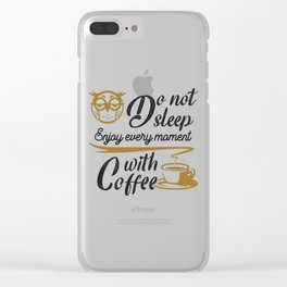 Coffee is one of the favorite drink Clear iPhone Case