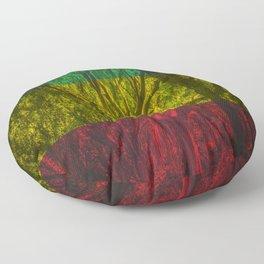 Rasta Forest Floor Pillow