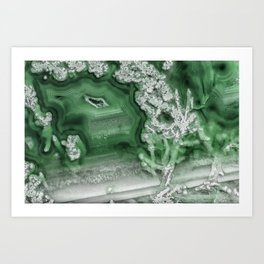 Green Agate #1 Art Print