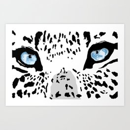 The blues; leopard. Art Print