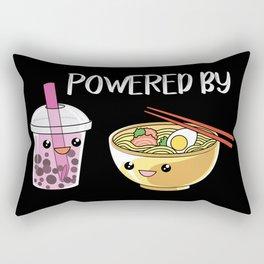 Powered by Ramen and Boba-Tea Rectangular Pillow
