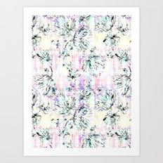 FLOWER VILLAGE Art Print
