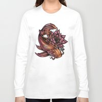 koi fish Long Sleeve T-shirts featuring Koi Fish by Absorb81