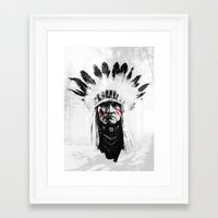 native american Framed Art Prints featuring Native American by Maioriz Home