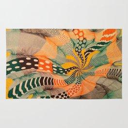 hypnotic color wave Rug