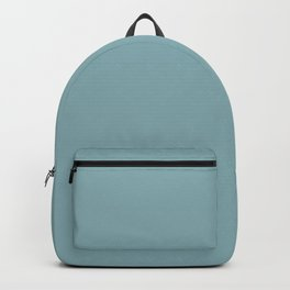 Muted turquoise solid color. Backpack