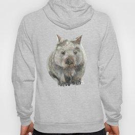 Wombat watercolour Hoody