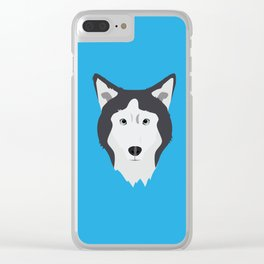 Lance Bright Blue Clear iPhone Case