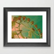 wheel carousel Framed Art Print