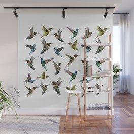 hummingbird pattern 2 Wall Mural