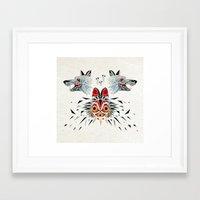 princess mononoke Framed Art Prints featuring mononoke princess by Manoou