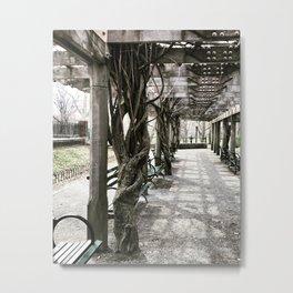 Overgrown Pagoda Metal Print
