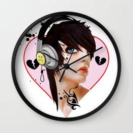 Emo Tattoo Wall Clock