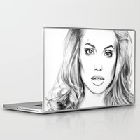 angelina jolie Laptop & iPad Skins featuring Angelina Jolie fanart  by Thubakabra