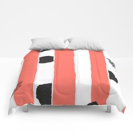 chic Living Coral stripes with black glitter accents Comforters