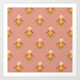 Waffles and Bacon (Pretty in Pink) Art Print