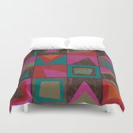 squares of colors and shreds Duvet Cover