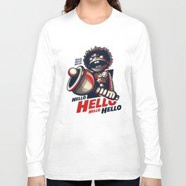 HELLO! HELLO! (white) Long Sleeve T-shirt