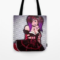 eugenia loli Tote Bags featuring Loli loli by clayscence