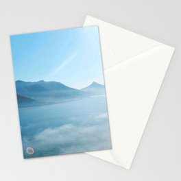 Mountains and ocean Stationery Cards