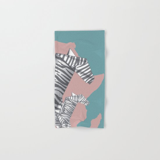 ZEBRAS (Origami) Hand & Bath Towel