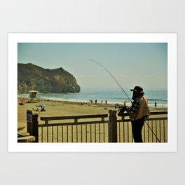 California, San Luis Obispo, Days fishing. Art Print
