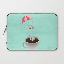 Sugar Cubes Jumping in a Cup of Coffee Laptop Sleeve