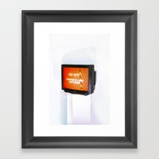 DOMESTIC ABUSE Framed Art Print