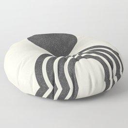 Mid century modern black Floor Pillow