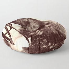 The love of a dog to man Floor Pillow