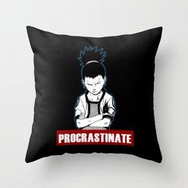Procrastinate shikamaru Throw Pillow