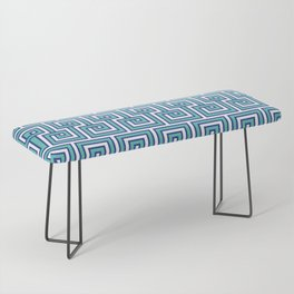 Greek Key - Turquoise Bench