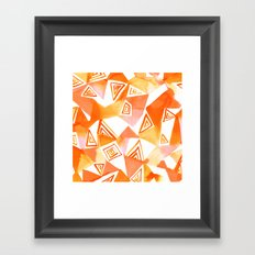 Geo Triangle Orange Framed Art Print