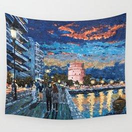 Greece: Thessaloniki In Memory Wall Tapestry