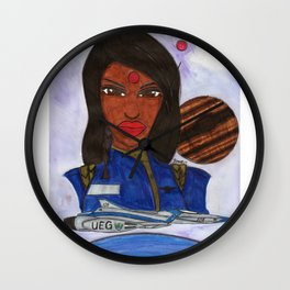 The Astronaut and Neptune Wall Clock